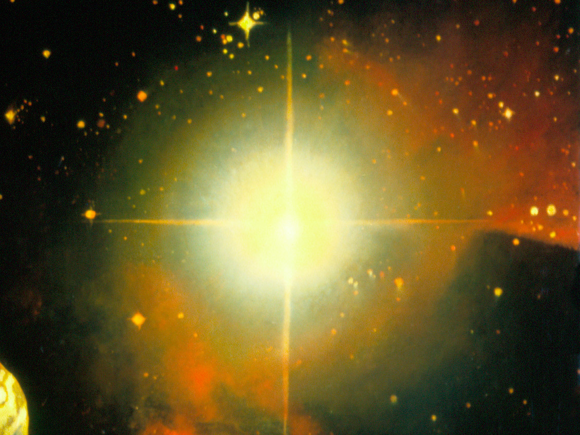 the one flaming star in the dark and cold universe