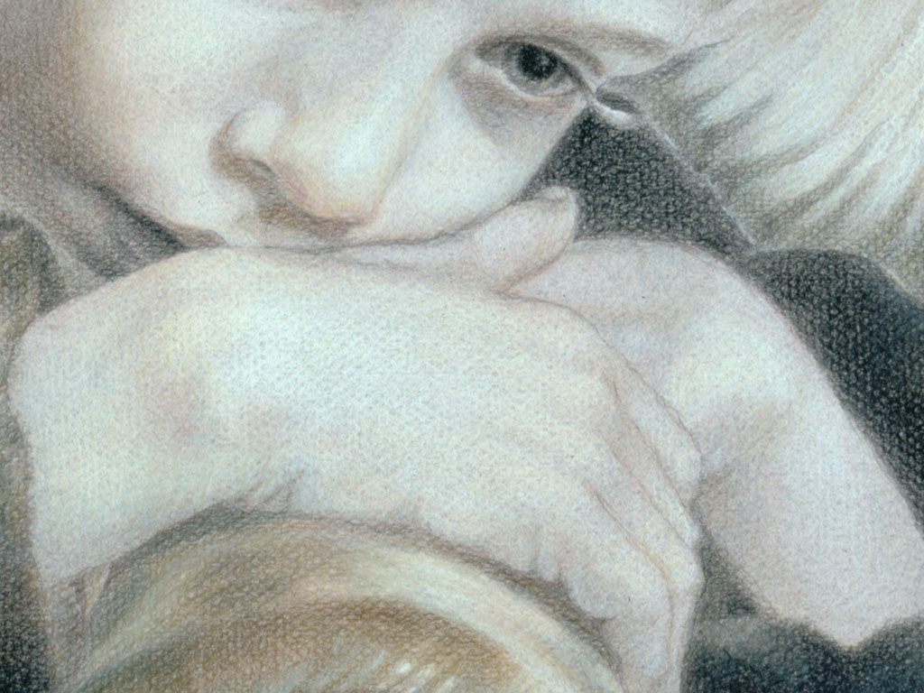 Paul Christiaan Bos: de handen van de Dromer van dichtbij. The hands of The Dreamer from close-up.