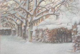 Paul Christiaan Bos, drawing: Snow Study